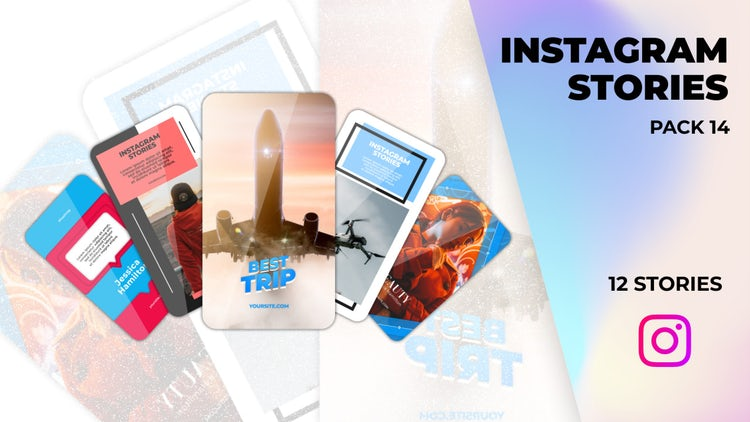 Instagram Stories Pack 14: Motion Graphics Templates