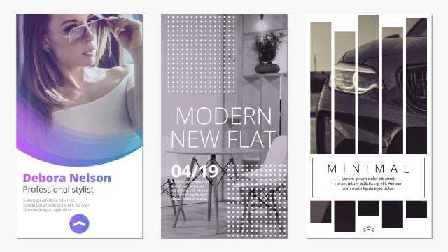 Trendy Instagram Stories: After Effects Templates