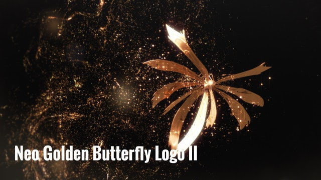 Neo Golden Butterfly Logo II: After Effects Templates