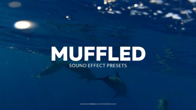 Muffled Sound Effect: Premiere Pro Presets