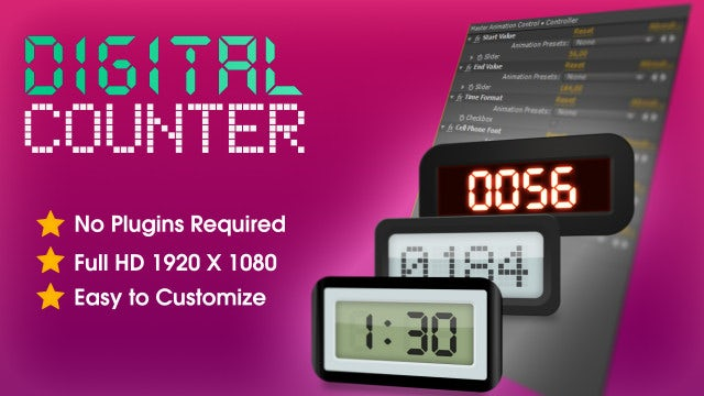 Digital Counter: After Effects Templates