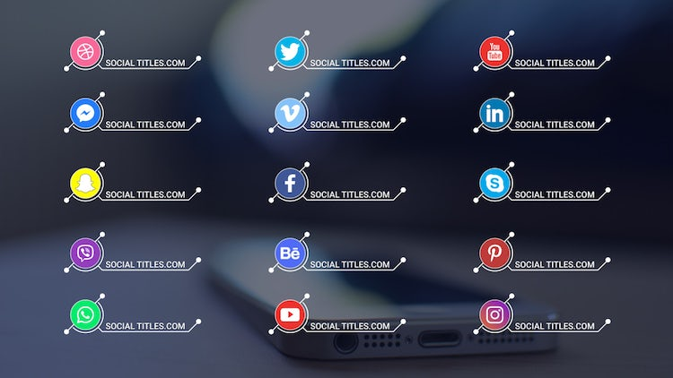 Social Media Titles 4K: After Effects Templates