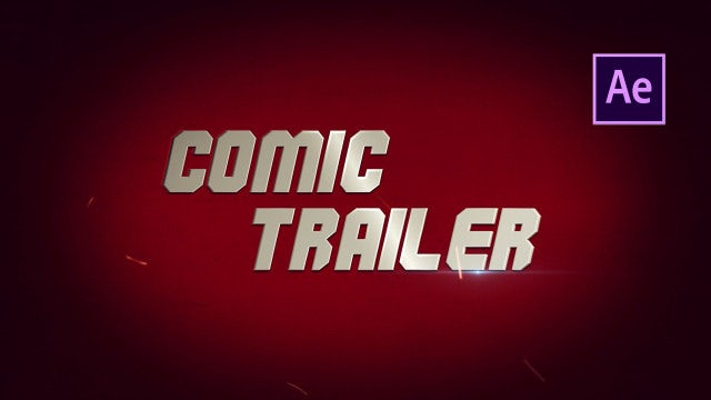 Comics Trailer: After Effects Templates