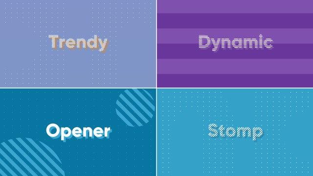 Dynamic Typography Opener (+ Bonus Stomp): Premiere Pro Templates
