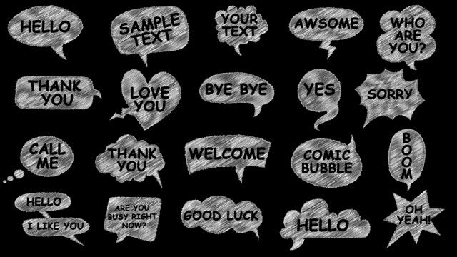 Comic Speech Bubbles: After Effects Templates