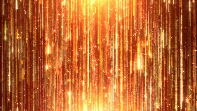 Golden Shining Rain Particles: Stock Motion Graphics