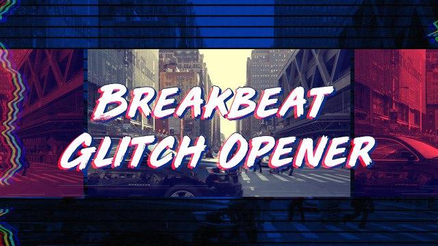 Breakbeat Glitch Opener: Premiere Pro Templates