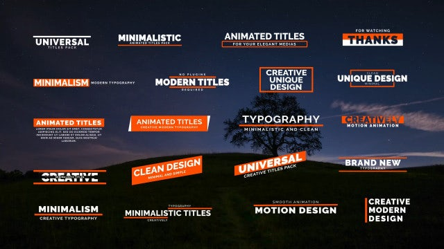 20 Creative Titles: Motion Graphics Templates