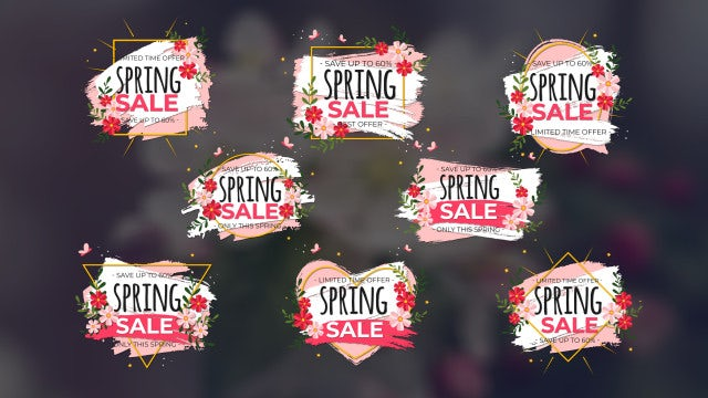 Elegant Spring Sale Titles: Motion Graphics Templates