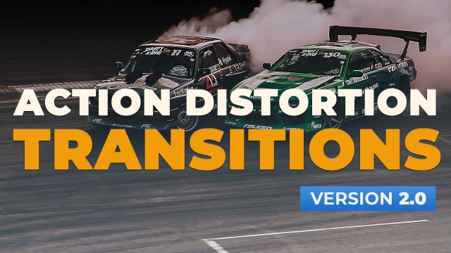 Action Distortion Transitions V2.0: Premiere Pro Presets