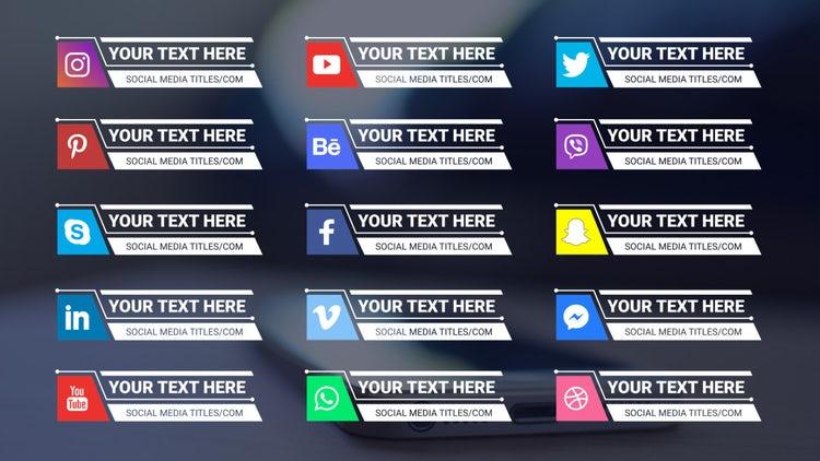 Social Media Titles 4K: Motion Graphics Templates