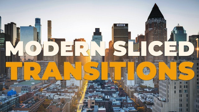 Modern Sliced Transitions: Premiere Pro Presets