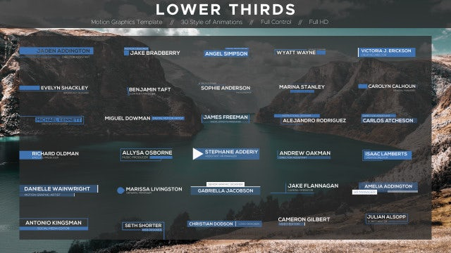 Lower Thirds: Motion Graphics Templates