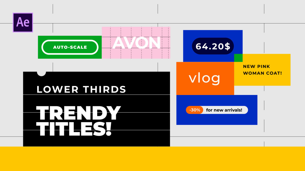 Titles Trendy Auto-Scale - After Effects Templates | Motion