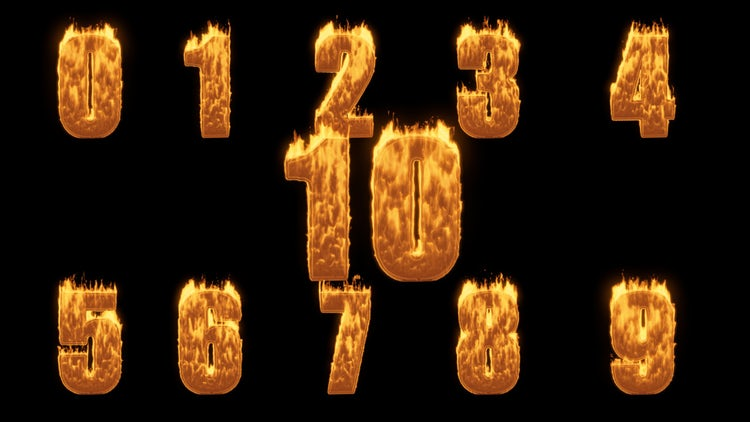 Numbers On Fire: Stock Motion Graphics