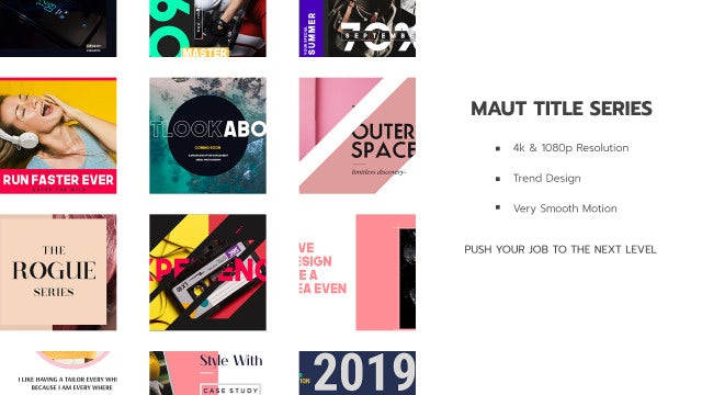 Neo Maut Title V I: After Effects Templates