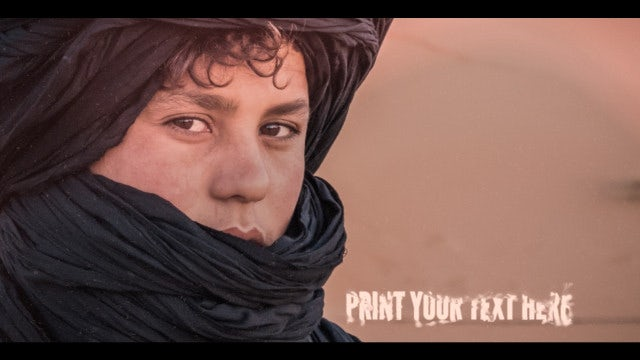 Travel in Hot Desert Slideshow: After Effects Templates