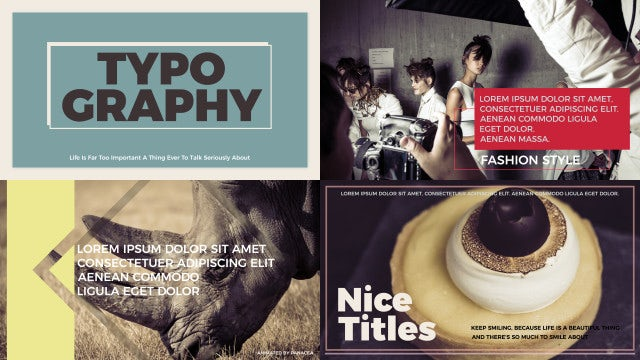 Typography Titles: After Effects Templates