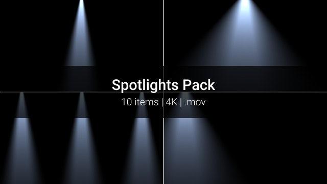 Spotlights Pack: Stock Motion Graphics