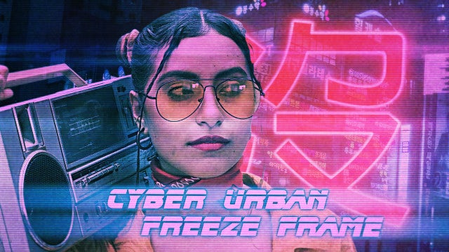 Cyber Urban Freeze Frame Opener: Premiere Pro Templates