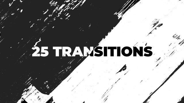 25 Brush-Ink Transitions: Stock Motion Graphics