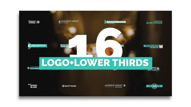 Logo Lower Thirds V.2: Premiere Pro Templates