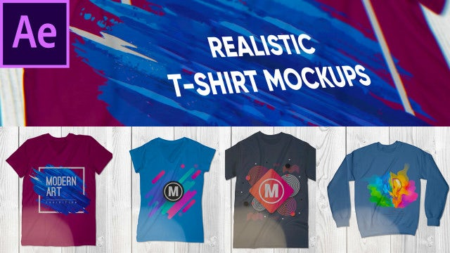Realistic T-Shirt Mockup Pack: After Effects Templates