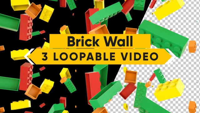 Bricks Fall Pack: Stock Motion Graphics