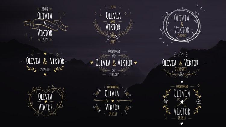 9 Elegant Wedding Labels: Premiere Pro Templates