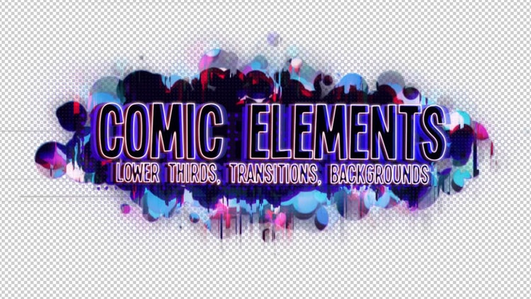 Comic Video Elements: After Effects Templates