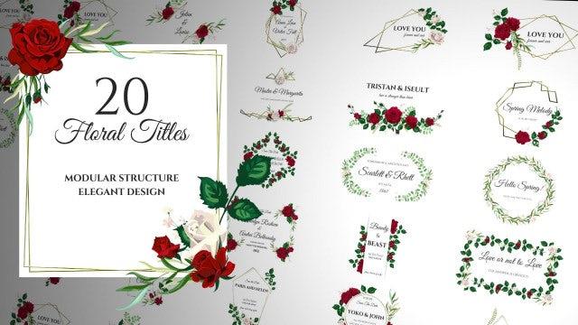Floral Romantic Titles: Premiere Pro Templates