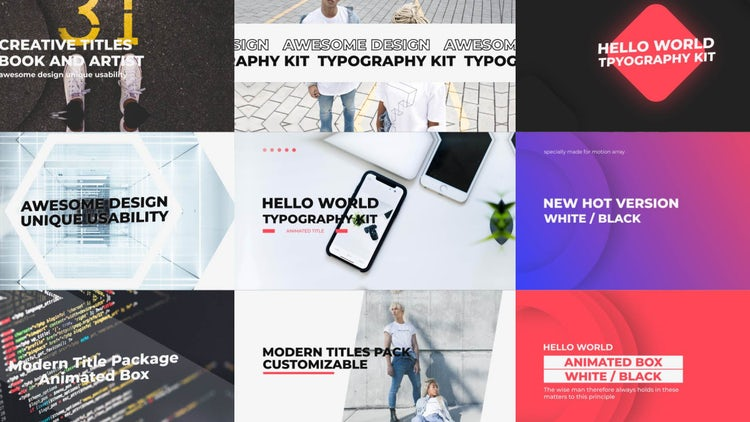 Typo Slides V2: After Effects Templates