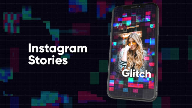 Instagram Stories: Glitch: After Effects Templates