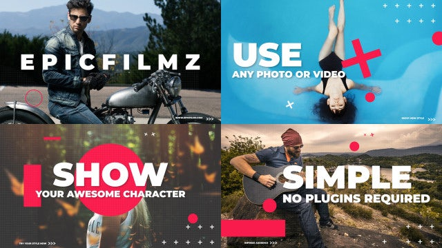 Clean Dynamic Opener: After Effects Templates