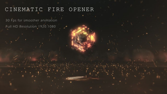 Neo Cinematic Fire Opener: After Effects Templates