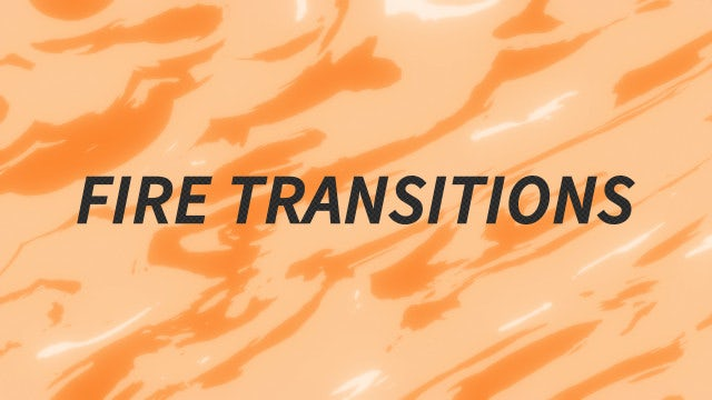Fire Transitions Pack: Stock Motion Graphics