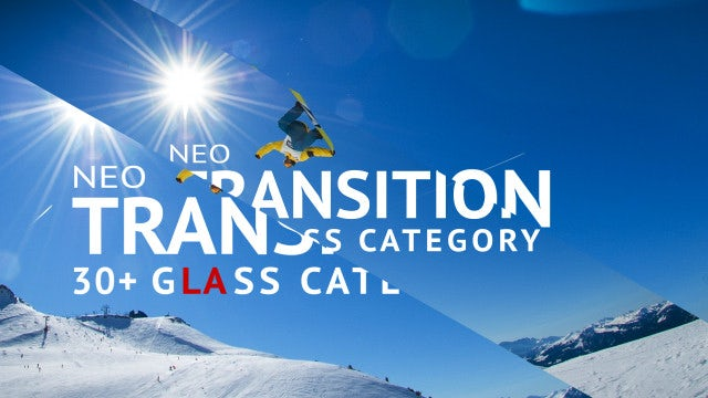Neo Glass Transition: After Effects Templates