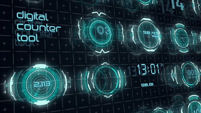 Digital Counter Tool: After Effects Templates