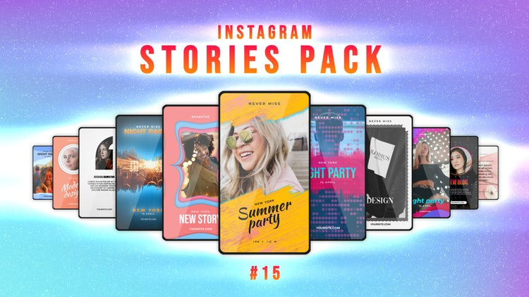 Instagram Stories Pack 15: Motion Graphics Templates
