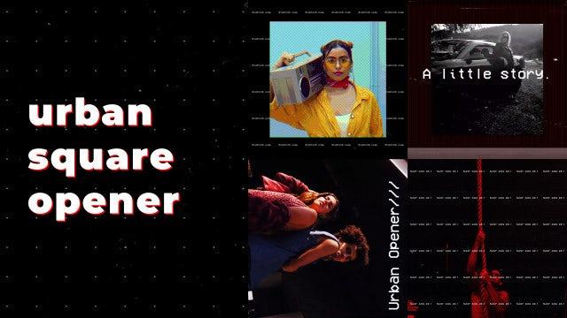 Urban Square Opener: Premiere Pro Templates