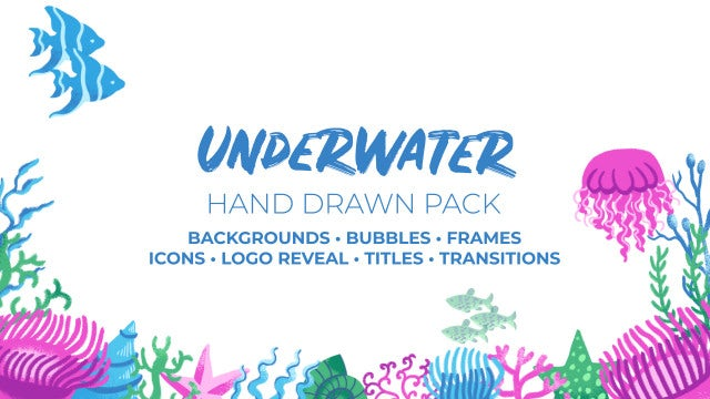 Underwater. Hand Drawn Pack: After Effects Templates