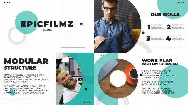 Clean Slides Presentation: After Effects Templates
