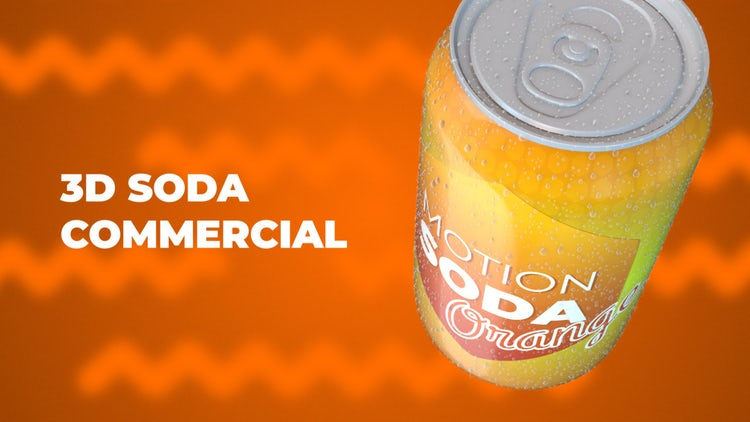 3D Soda Commercial: After Effects Templates