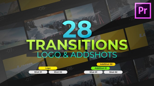 AddShots & Logo Transitions: Premiere Pro Templates