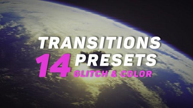 Glitch And Color Transitions Presets: Premiere Pro Presets