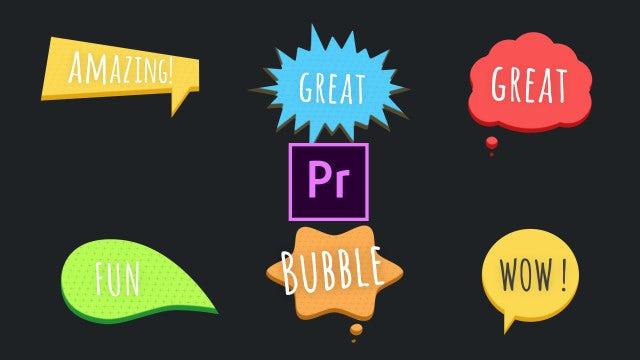 Speech Bubbles Pack: Motion Graphics Templates