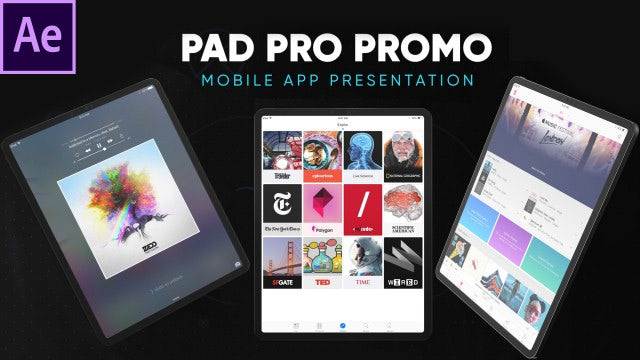 Pad Pro - App and Website Presentation: After Effects Templates