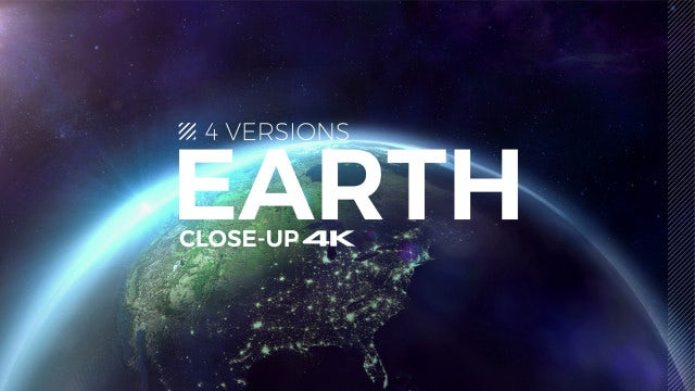 Earth Animation Closeup Pack: Stock Motion Graphics