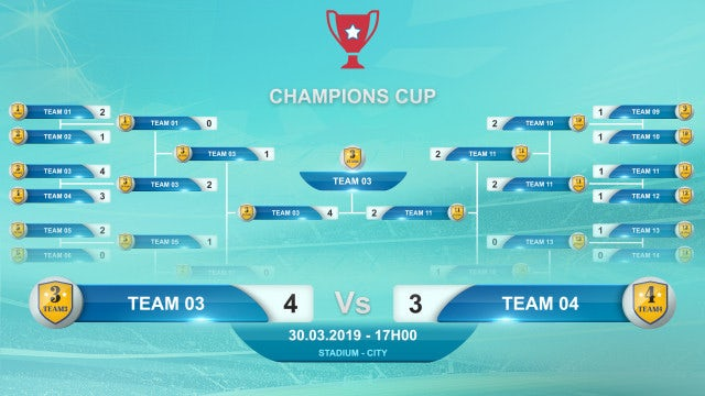 Championship Brackets: After Effects Templates