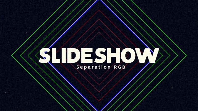 Slideshow - Separation RGB: After Effects Templates